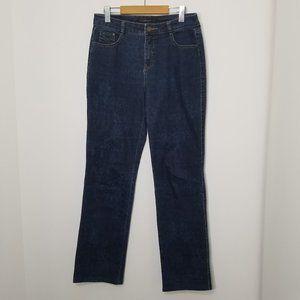 Simon Chang | Dark Wash Denim Jeans Straight Leg 8